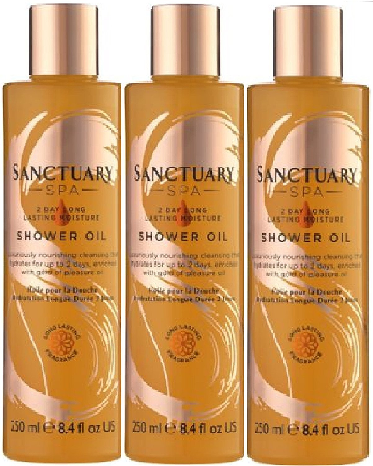 (3 PACK) Sanctuary Spa 2 Day Moisture Shower Oil x 250ml