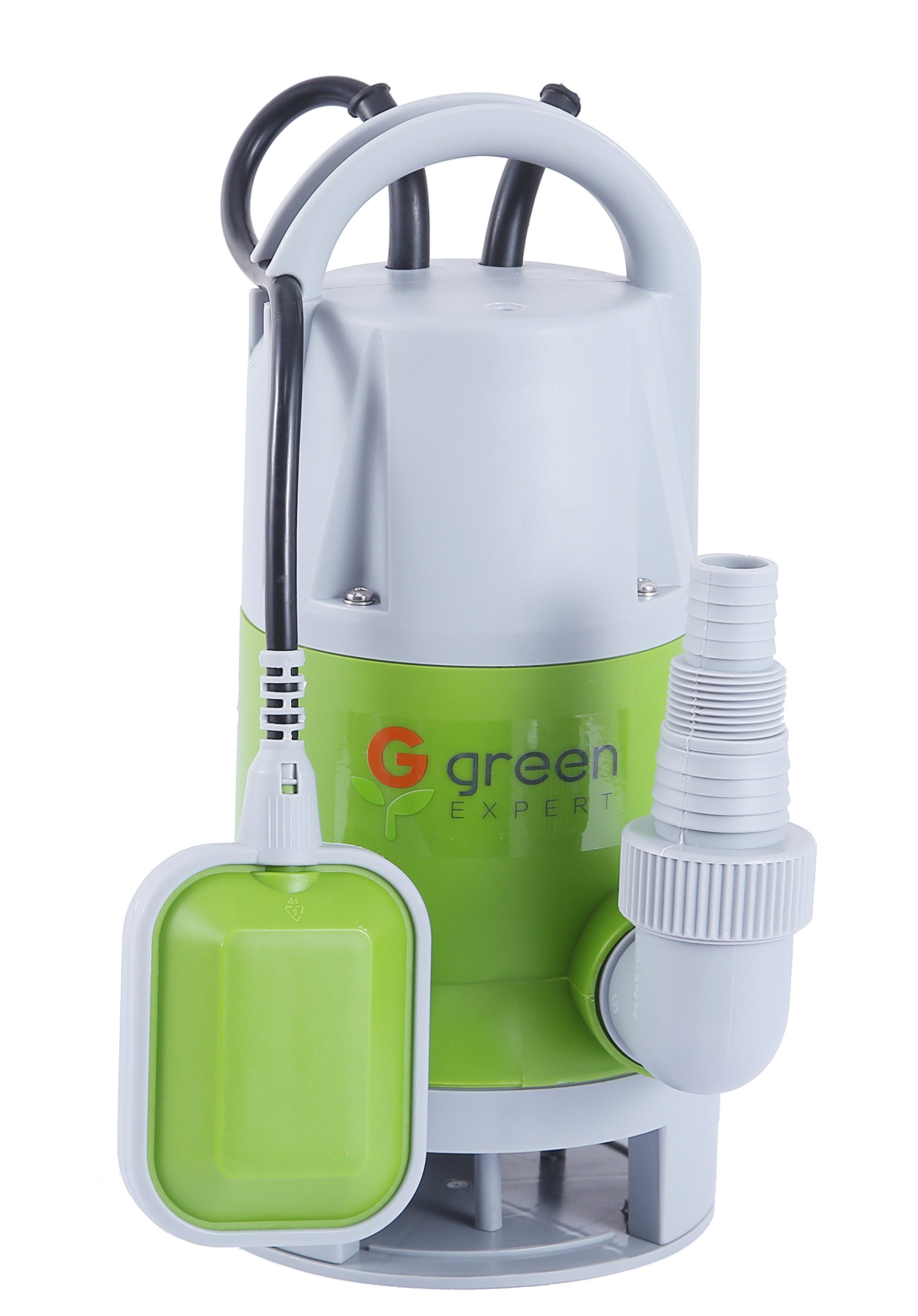Green Expert 1/4HP 203619 Portable Submersible Automatic Sump Pump with Tethered Float Switch for Dirty Water 2113 GPH Water Removal Pump