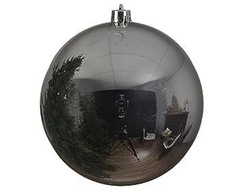Weihnachtskugeln Xxl.Christbaumkugel Kuststoff Pvc Xxl Silber 20cm Weihnachtskugeln Baumschmuck Dekokugeln Groß Baumkugeln