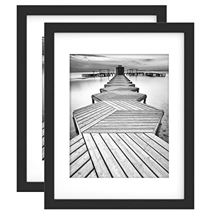 Amazon.com - 11x14 Black Picture Frame 2 Pack, UnityStar Wood Photo ...