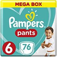Pampers Pants Diapers, Size 6, Extra Large, >16kg, 76 Count