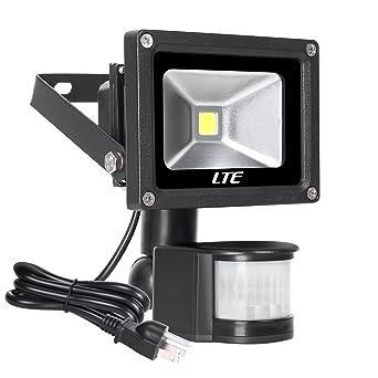 Motion Sensor Flood Light LTE Waterproof Outdoor Security LED 10W