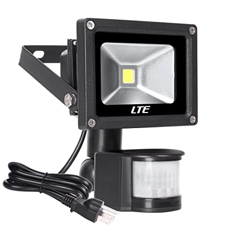 Motion Sensor LED Flood Light760 Lumens Daylight WhiteLTE 10W Waterproof Outdoor Security  sc 1 st  Amazon.com & Motion Sensor LED Flood Light 760 Lumens Daylight White LTE 10W ...