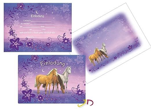... Mit 6 Einladungskarten Und 6 Umschläge Für Kindergeburtstag // Kinder  Geburtstag Party Einladung Karten Mädchen Pony Pferde: Amazon.de: Spielzeug