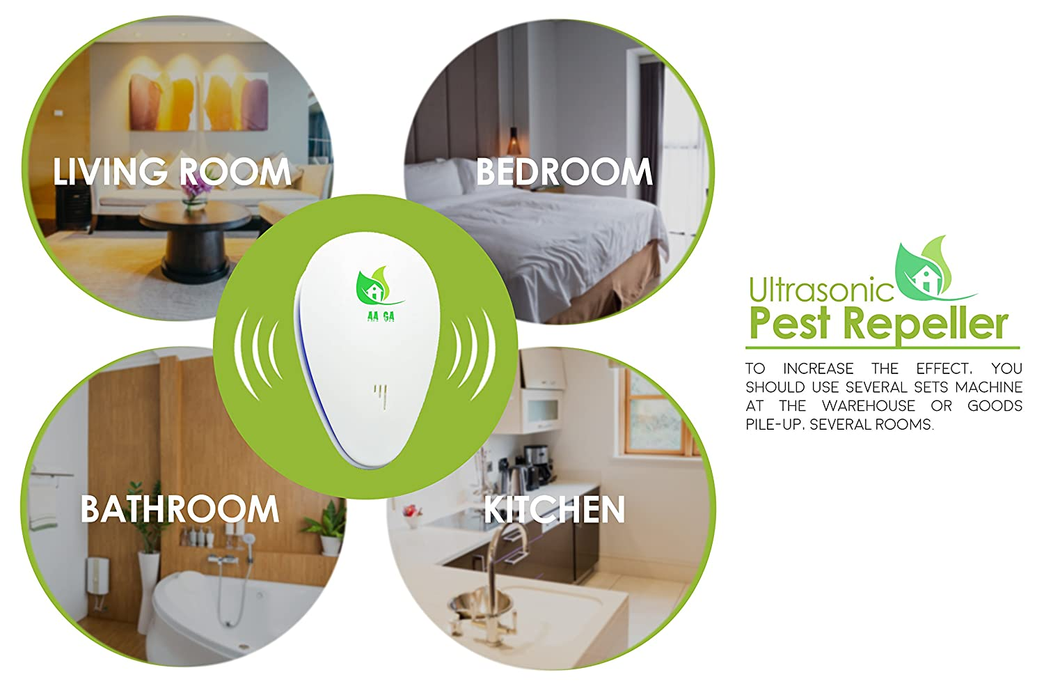 Ultrasonic Pest Repellent Electronic Bug Repeller Get Kit Mosquito Circuit Projects Rid Of Rats Mice Roaches Fleas Mosquitoes Flies And Ants For Control Indoor