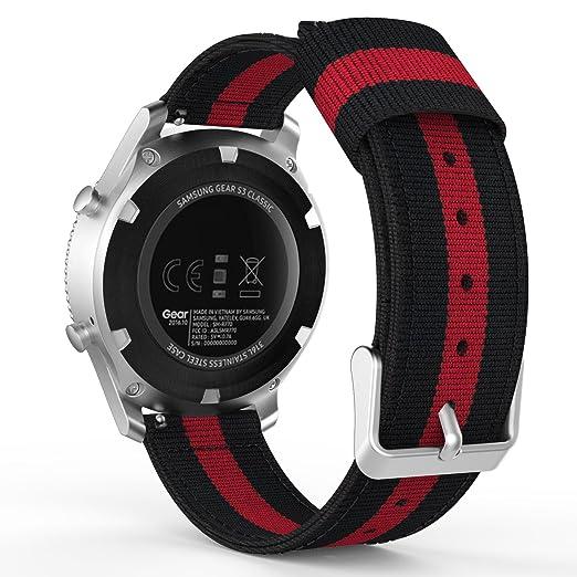24 opinioni per MoKo Gear S3 Watch Cinturino, Braccialetto Regolabile di Ricambio in Nylon