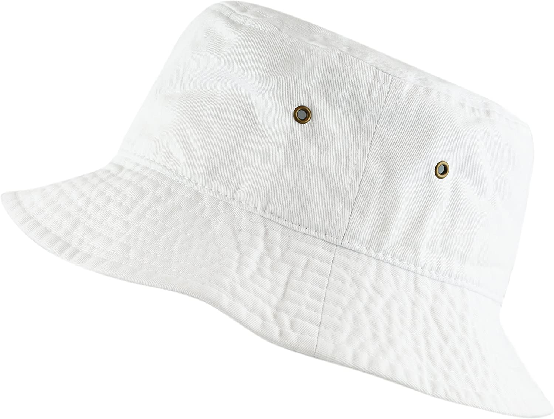 The Hat Depot 300N Unisex 100% Cotton Packable Summer Travel Bucket Beach Sun Hat at  Women's Clothing store