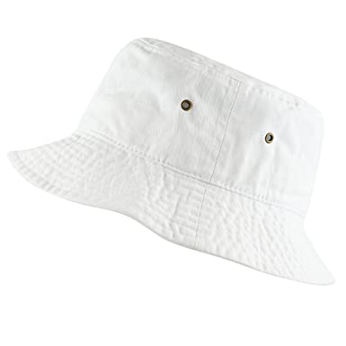 The Hat Depot 300 N Unisex 100% Cotton Packable Summer Travel Bucket Beach Sun Hat by The Hat Depot