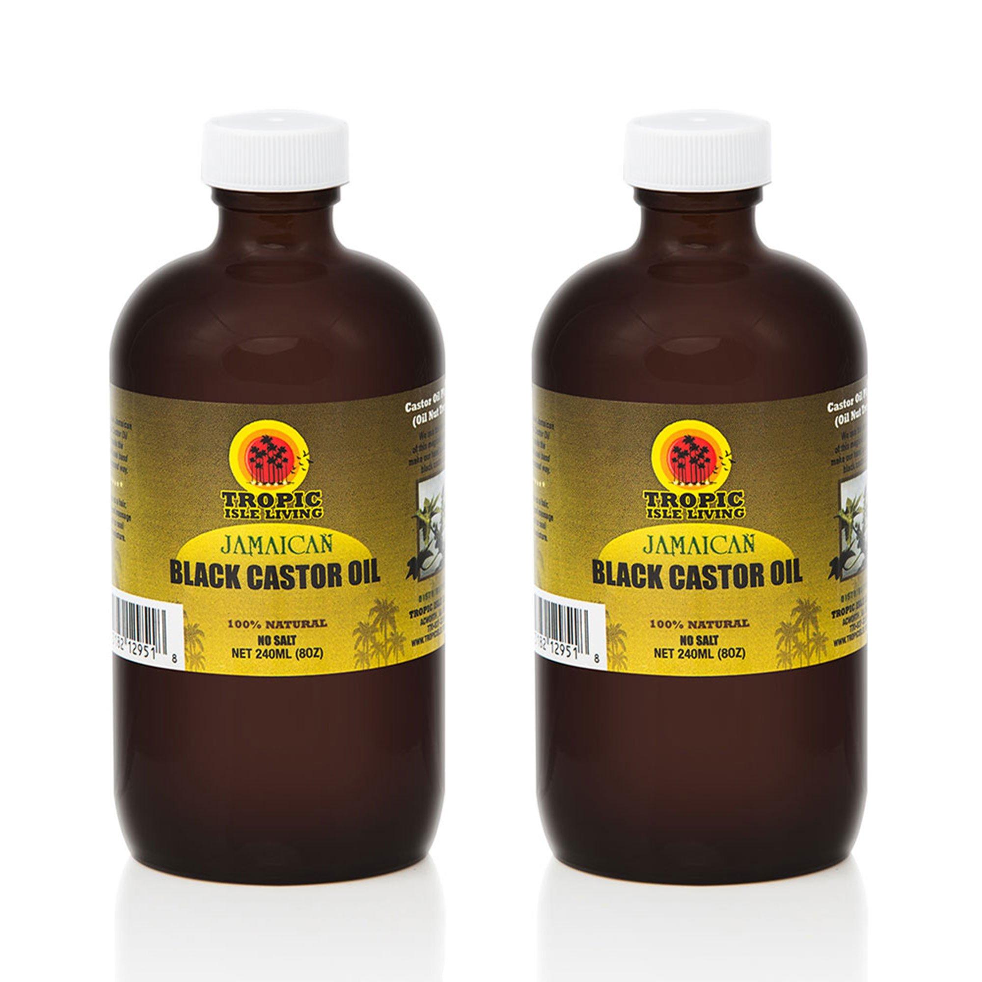 Tropic Isle Living Jamaican Black Castor Oil 8oz Pack of 2 by Tropic Isle Living