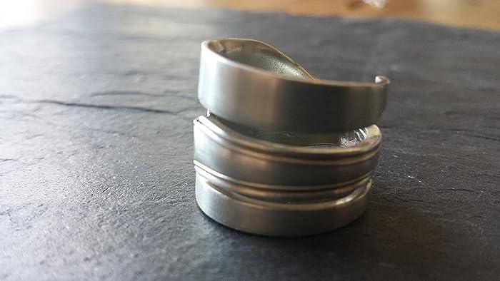 Ring Aus Kuchengabel Schmuck Aus Silberbesteck Amazon De