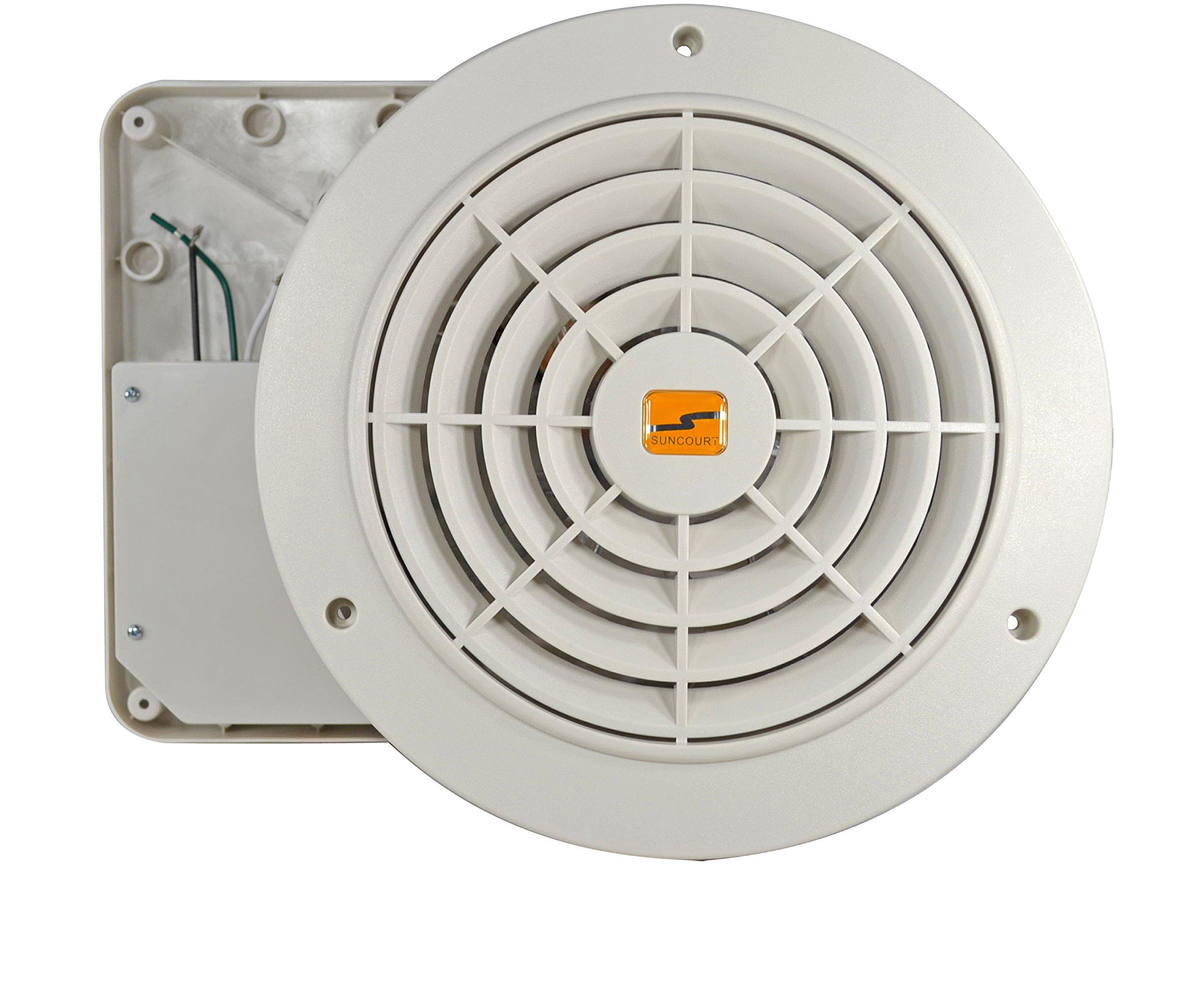 Suncourt Thru Wall Fan Hardwired Variable Speed by Suncourt