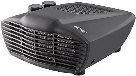 Solac 238447 Calefactor Horizontal, 2000 W, Negro