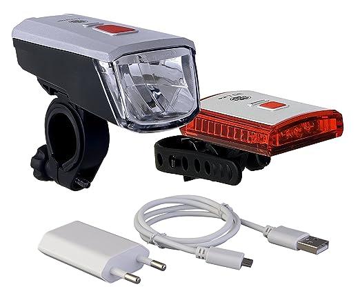 4 opinioni per Büchel, Set luci a batteria per bici 40LUX LED Vancouver Li-ion Akku USB