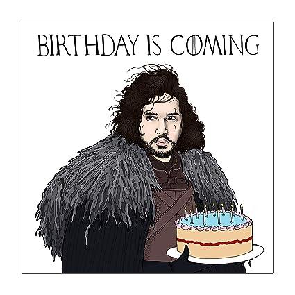 Tarjeta de felicitación de cumpleaños es Coming juego de ...