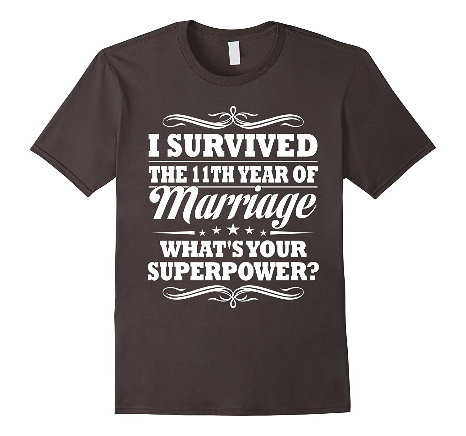 11th Wedding Anniversary Gift Ideas For Her Him- I Survived-PL
