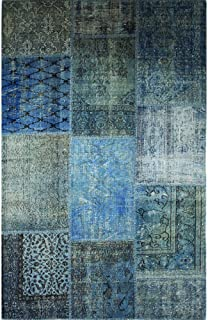 product image for Beekman 1802 Kindfolk Patchwork Rug, 9 by 12-Inch, Indigo