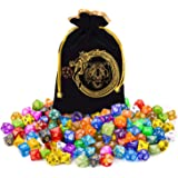 DND Dice Set, 140PCS Polyhedral Game Dice, 20 Set Double Color DND Role Playing Dice with 1 Big Pouch for Dungeon and…