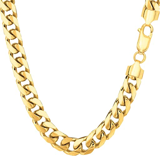 """Real 14k Solid Yellow Gold Cuban Link Miami Chain Necklace 3MM 22/"""" inch 3 MM"""