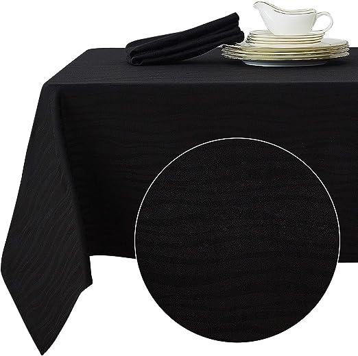 Deconovo Mantel Mesa Rectangular Jacquard Diseño Ondas para Cena ...