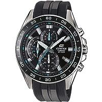 Casio EDIFICE Reloj en caja sólida de acero inoxidable, 10 BAR, Negro/Azul, para Hombre, con Correa de Resina, EFV-550P…