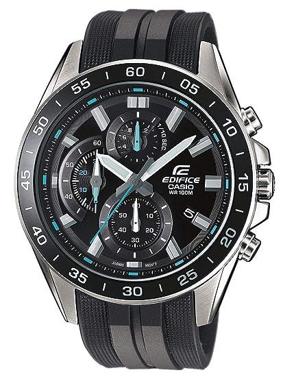 5d08af107606 Casio Reloj Analógico para Hombre de Cuarzo con Correa en Resina EFV-550P-1AVUEF   Amazon.es  Relojes