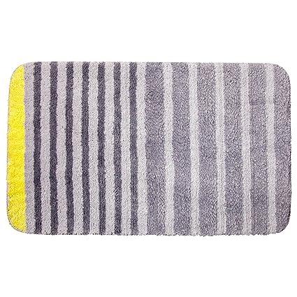 Amazoncom Vdomus Modern Striped Bath Rug Non Slip Microfiber
