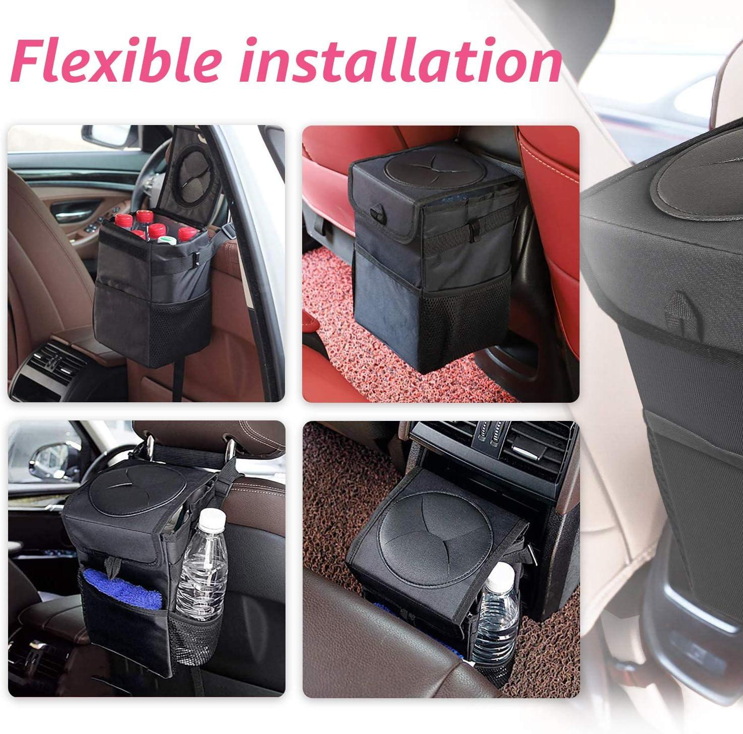 5.4L Sac Poubelle Automobile Oxford Pliable Etanche JINYJIA Poubelle de Voiture avec Couvercle pour VUS//Camion//Voiture