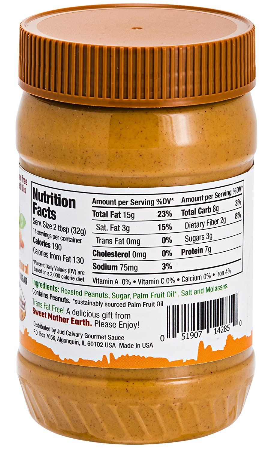Amazon.com : Earth OSweet Peanut Butter. All Natural. Gluten Free. VEGAN. No Hydrogenated Oils. No Cholesterol : Grocery & Gourmet Food