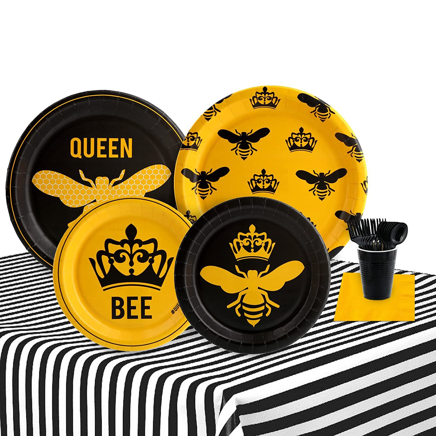 Queen Bee 16 Guest Party Supplies Pack B072XZ7BCY