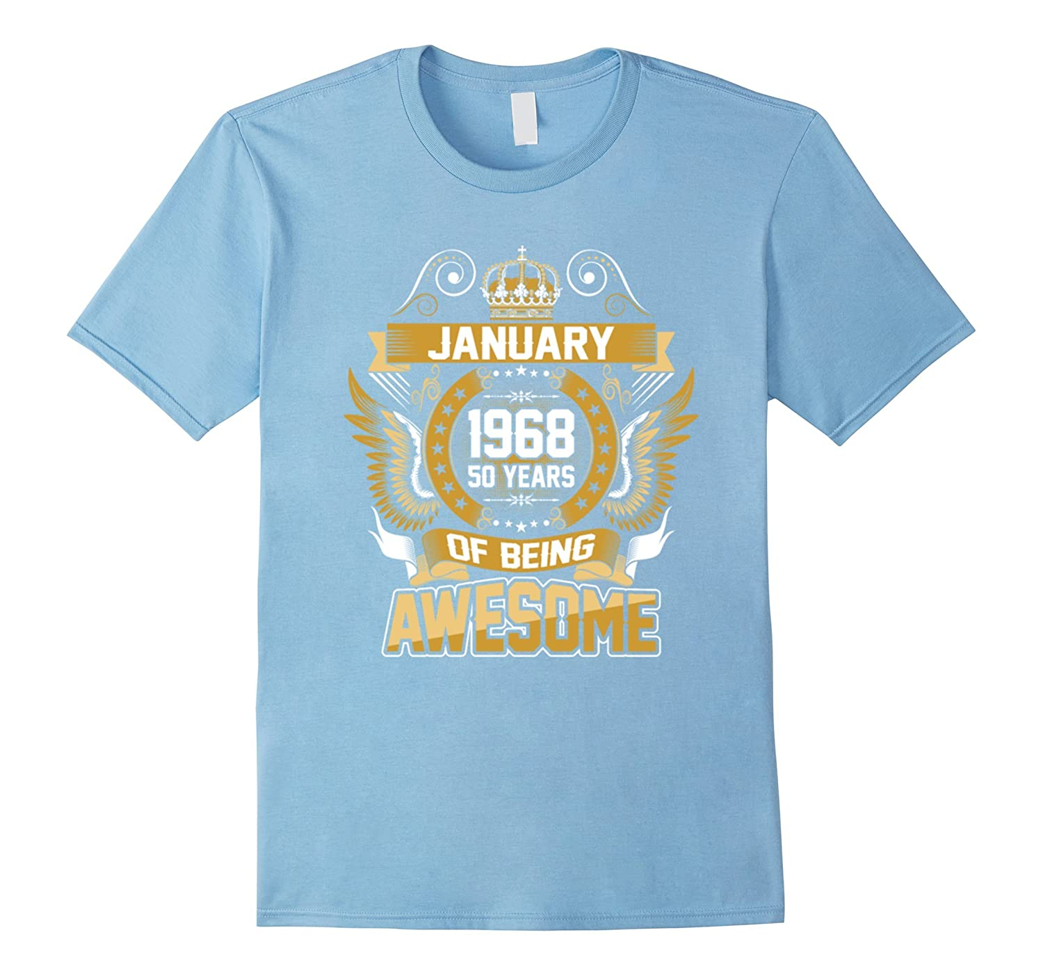 Legends were Born in January 1968 Awesome Birthday Gift Unisex Sweatshirt