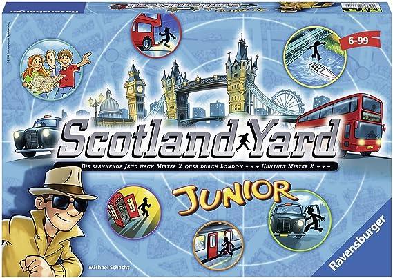 Ravensburger- Personajes fántasticos Juego de Mesa Scotland Yard Junior, Color Azul, Amarillo, Negro, Miscelanea (22289 6): Amazon.es: Juguetes y juegos