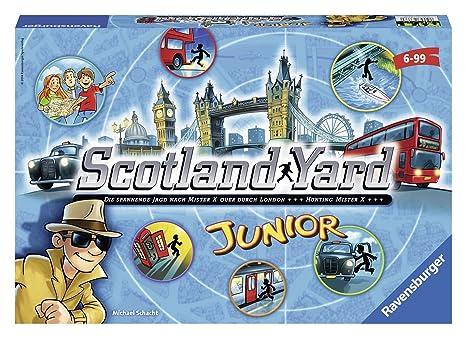 Ravensburger Personajes fántasticos Juego de Mesa Scotland Yard Junior Color Azul, Amarillo, Negro Miscelanea