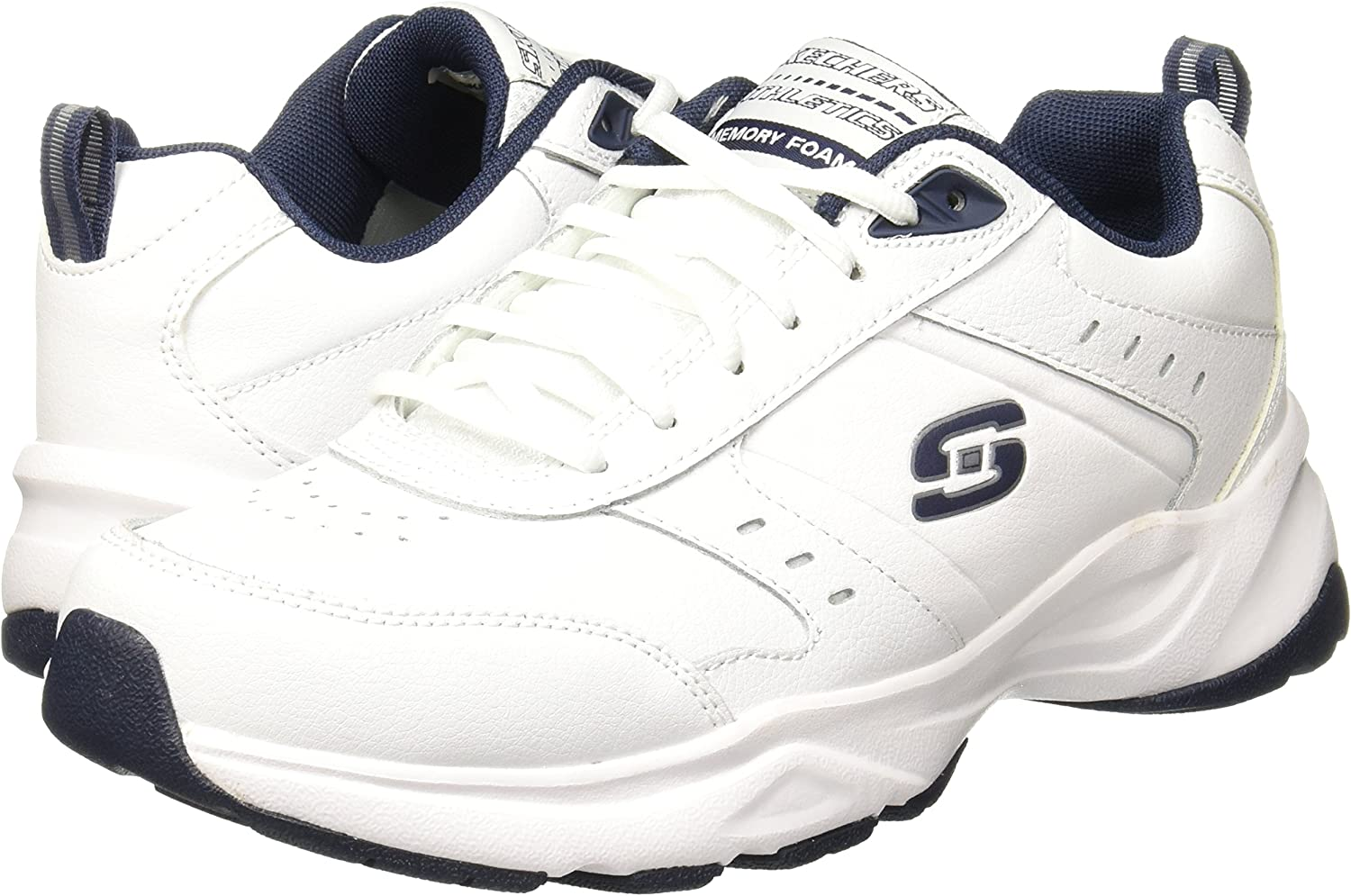 all white skechers shoes