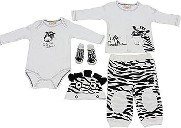 2a101606e Amazon.com  5 Piece Zebra Outfit for Baby 3-6 Months (Cardigan ...