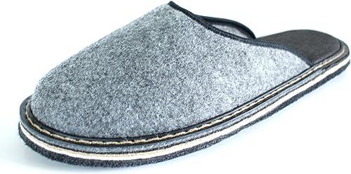 Taille 42 Chaussures Maison pour Hommes Semelle en Gomme Revise Pantoufles en Feutre