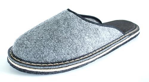 Revise - Zapatillas de Estar por casa para Hombre Gris Grau/Filz: Amazon.es: Zapatos y complementos