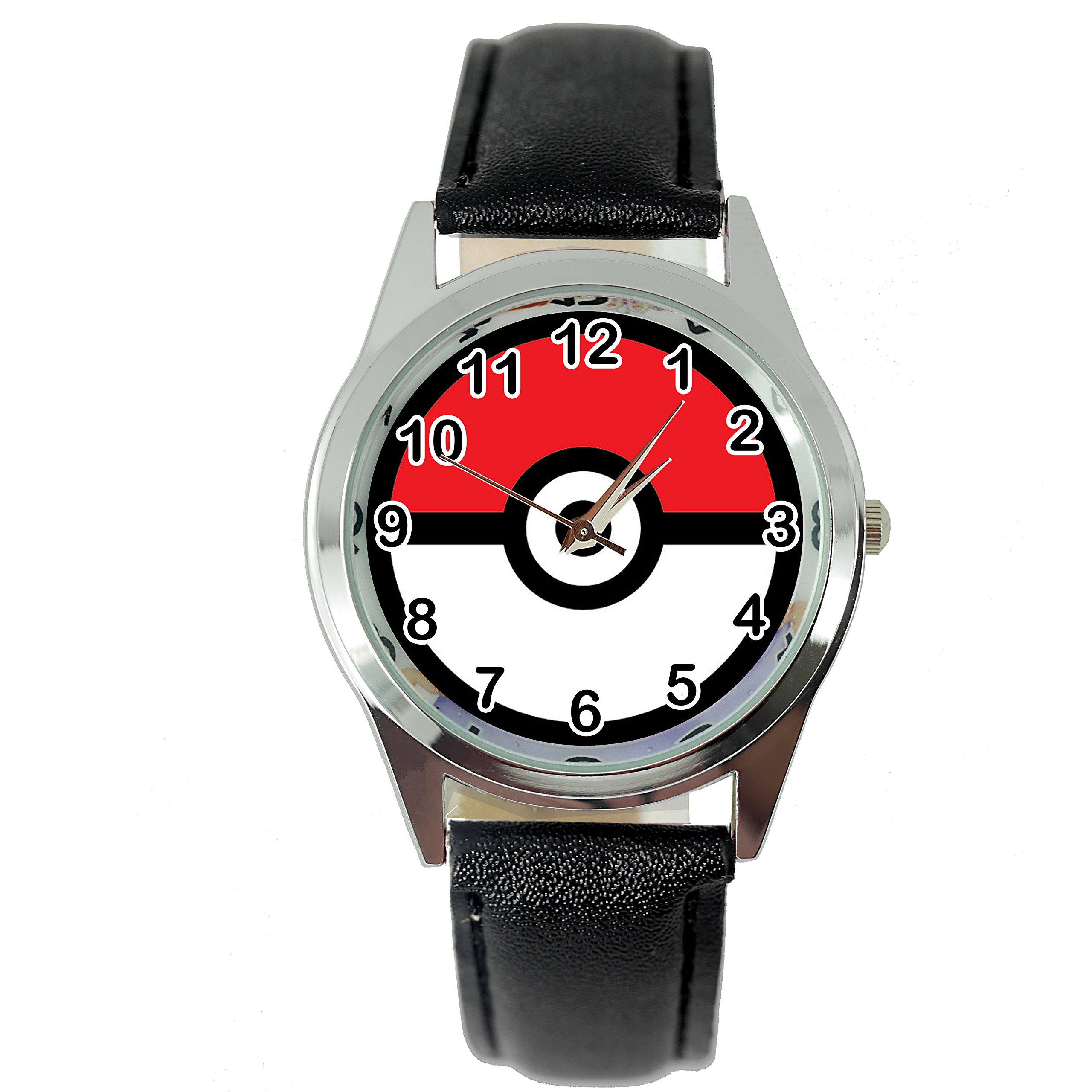TAPORT POKEMON Quartz Watch BLACK Leather Band +FREE SPARE BATTERY+FREE GIFT BAG …