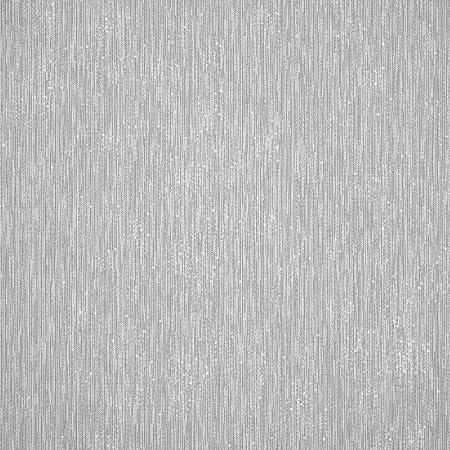 Henderson Interiors Camden Textured Plain Wallpaper Soft Grey Silver H980529