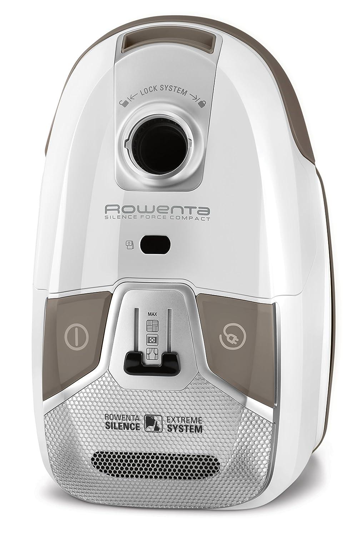 Rowenta Silence Force Compact RO6327EA - Aspirador con bolsa, bolsa triple filtración 3.5 L con cepillo parquet con dos posiciones y ranuras, tubo ...