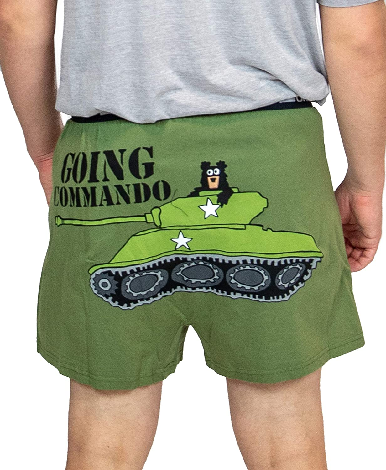 Humorous Underwear Lazy One Funny Boxers Novelty Boxer Shorts Gag Gifts for Men