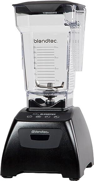 Blendtec Classic Fit Blender with FourSide Jar (75 oz), 30-sec Pre-programmed cycle, High-Low Pulse, Professional-Grade Power, Black