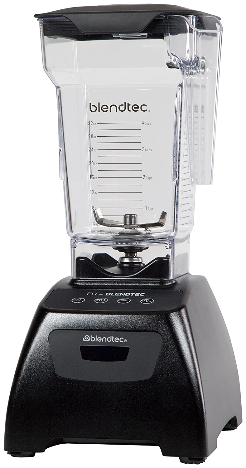 Blendtec Classic Fit Blender with FourSide Jar (64 oz), 30-sec Pre-programmed cycle, High-Low Pulse, Black CFITA2301A-AMAZON