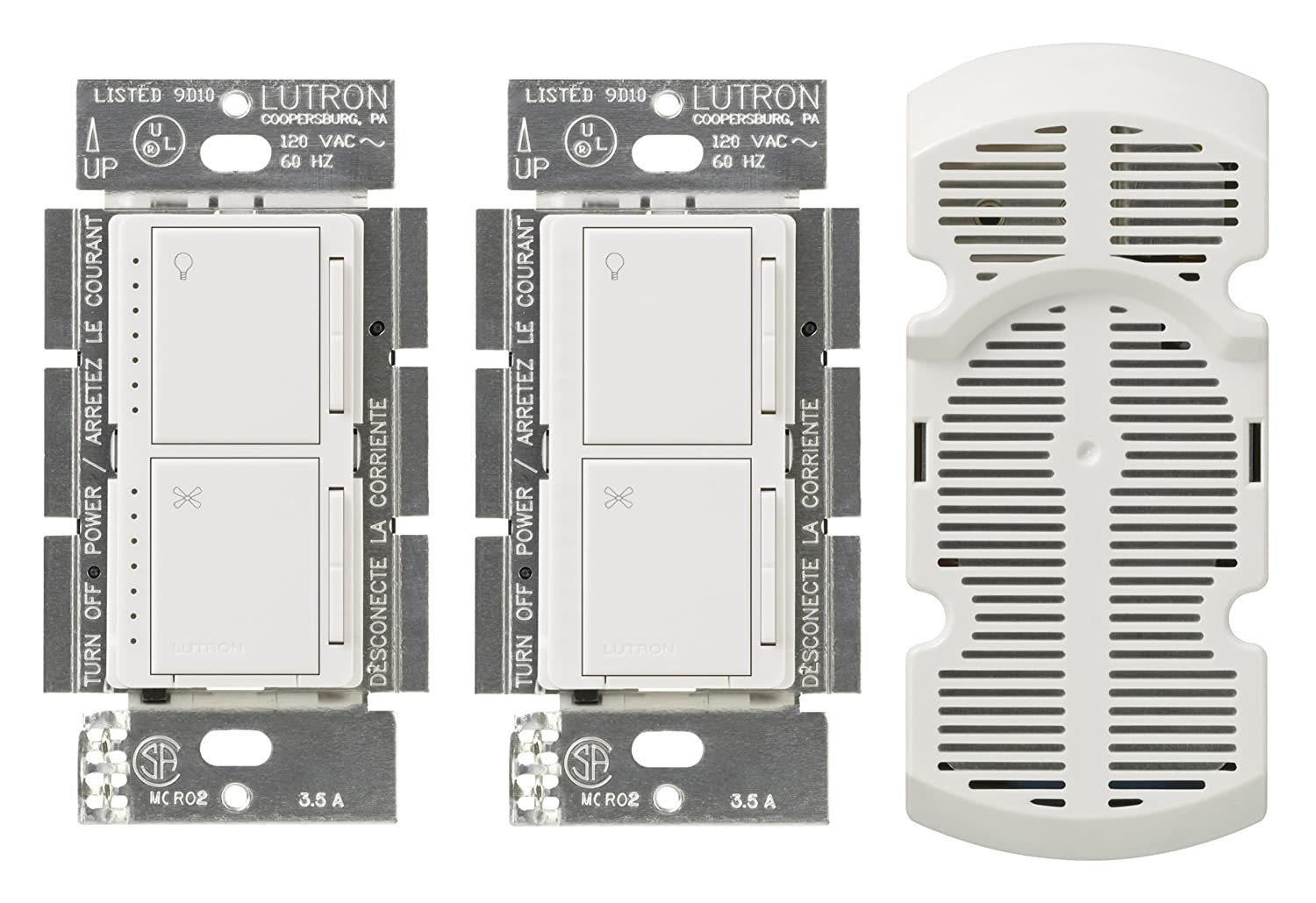 Lutron Ma Lfq3 Wh Maestro Multi Location Fan Control Kit White How To Install Ceiling And Light Switch On 3way Kits