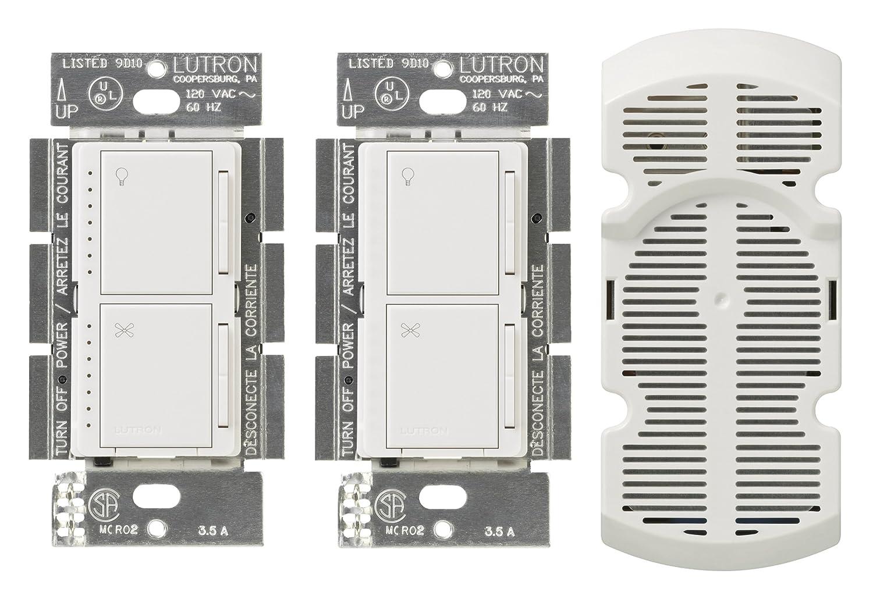 Lutron MA-LFQ3-WH Maestro Multi-Location Fan Control Kit, White ...