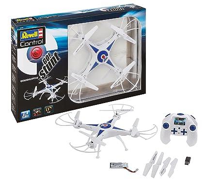 Revell Control 23842 RC Quadcopter GO! Stunt, für Einsteiger, 2.4GHZ, Akku, Flip-Funktion, Rotorschutz, LED, Headless-Mode, G