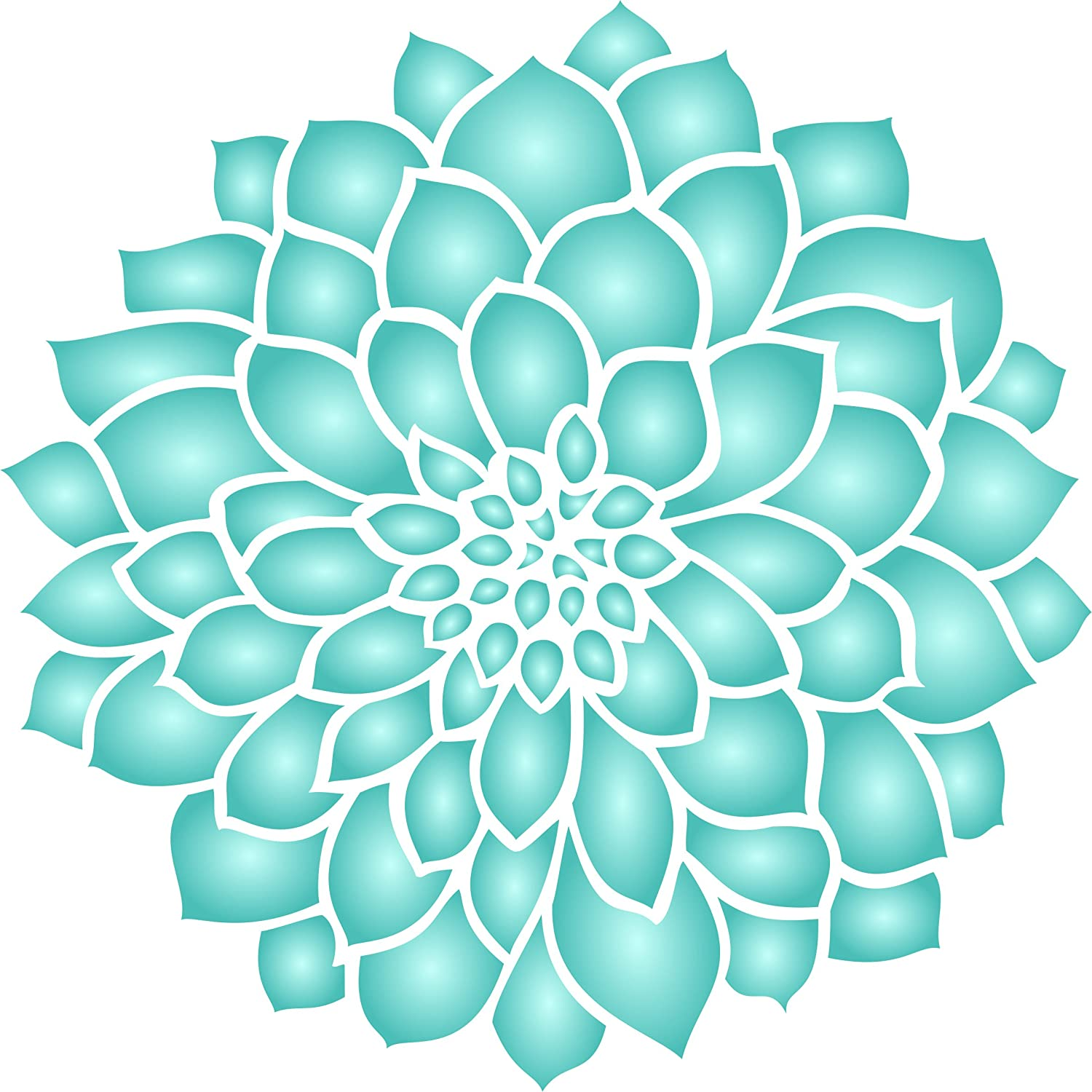 Amazon dahlia or zinnia stencil size 5w x 5h reusable amazon dahlia or zinnia stencil size 5w x 5h reusable wall stencils for painting best quality zinnia grande flower ideas use on walls amipublicfo Images