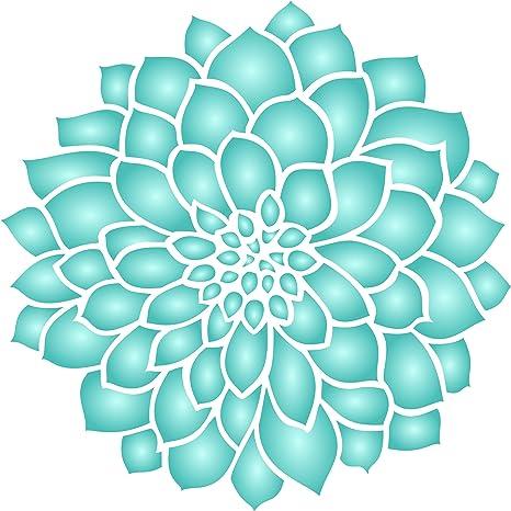 Dahlia o de flores plantilla – Combinación de diferentes tamaños para Get estos Efectos – para