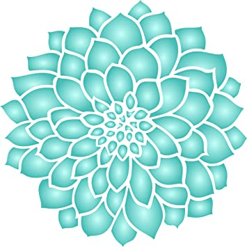 Dahlia o de flores plantilla - Combinación de diferentes tamaños para Get estos Efectos - para la pared reutilizables Plantillas para pintar ...