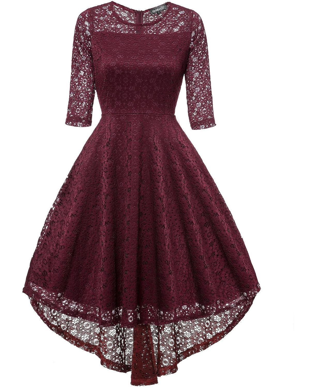 Gigileer Abendkleider Off Spitze N0ynwv8omp Frack Vintage 70 Damen LMVpSUGqz