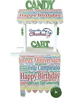CARRITO DE CHUCHES Candy Cart Happy Birthday. para Decorar. Medidas 132CMS(Alto)